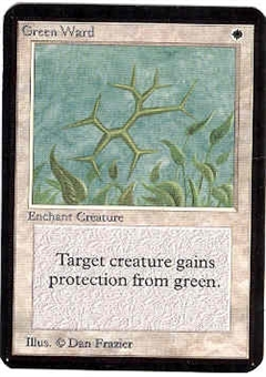 Magic the Gathering Alpha Single Green Ward UNPLAYED (NM/MT)