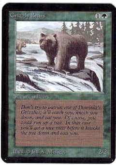 Magic the Gathering Alpha Single Grizzly Bears - NEAR MINT (NM)