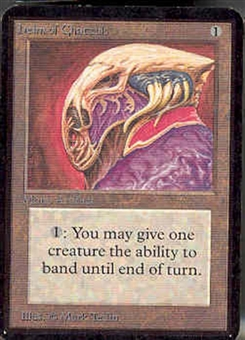 Magic the Gathering Alpha Single Helm of Chatzuk - NEAR MINT (NM)