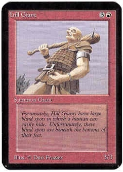 Magic the Gathering Alpha Single Hill Giant - NEAR MINT (NM)