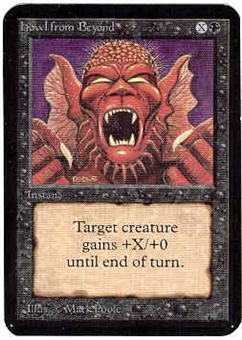 Magic the Gathering Alpha Single Howl From Beyond - NEAR MINT (NM)