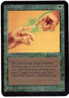 Magic the Gathering Alpha Single Instill Energy UNPLAYED (NM/MT)