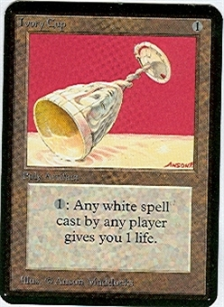Magic the Gathering Alpha Single Ivory Cup UNPLAYED (NM/MT)