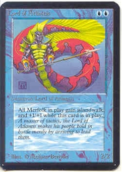 Magic the Gathering Alpha Single Lord of Atlantis UNPLAYED (NM/MT)