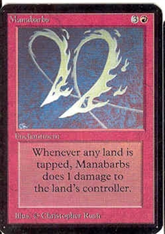 Magic the Gathering Alpha Single Manabarbs - NEAR MINT (NM)