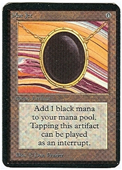 Magic the Gathering Alpha Single Mox Jet - SLIGHT PLAY (SP)