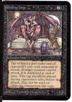 Magic the Gathering Alpha Single Nettling Imp - NEAR MINT (NM)