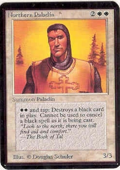 Magic the Gathering Alpha Single Northern Paladin - SLIGHT PLAY (SP)