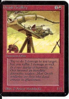 Magic the Gathering Alpha Single Orcish Artillery - SLIGHT PLAY (SP)