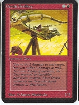 Magic the Gathering Alpha Single Orcish Artillery - NEAR MINT (NM)