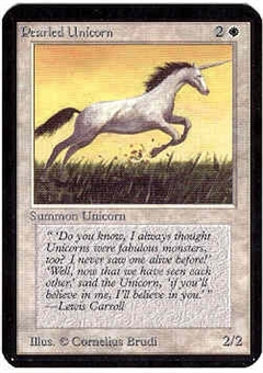 Magic the Gathering Alpha Single Pearled Unicorn - NEAR MINT (NM)
