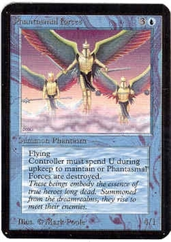 Magic the Gathering Alpha Single Phantasmal Forces - NEAR MINT (NM)