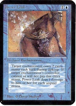 Magic the Gathering Alpha Single Power Leak - NEAR MINT (NM)