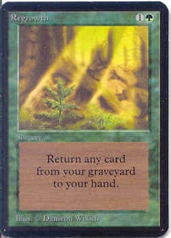Magic the Gathering Alpha Single Regrowth - NEAR MINT (NM)