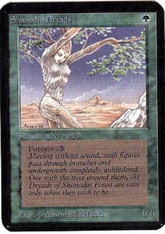 Magic the Gathering Alpha Single Shanodin Dryads UNPLAYED (NM/MT)