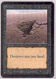 Magic the Gathering Alpha Single Sinkhole - SLIGHT PLAY (SP)
