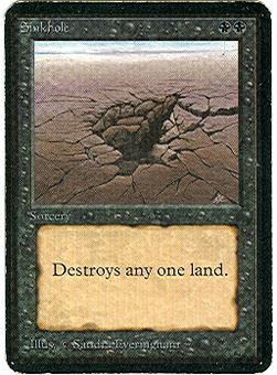 Magic the Gathering Alpha Single Sinkhole - MODERATE PLAY (MP)