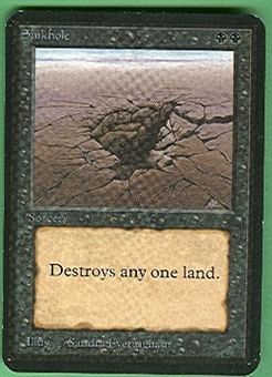 Magic the Gathering Alpha Single Sinkhole - NEAR MINT (NM)