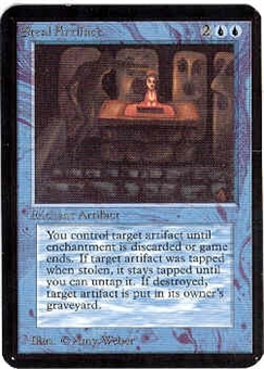Magic the Gathering Alpha Single Steal Artifact UNPLAYED (NM/MT)