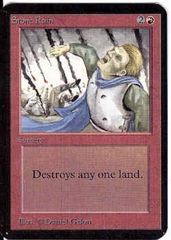 Magic the Gathering Alpha Single Stone Rain - NEAR MINT (NM)