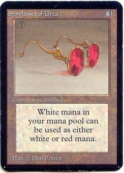 Magic the Gathering Alpha Single Sunglasses of Urza - NEAR MINT (NM)