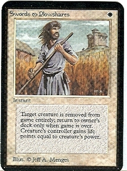Magic the Gathering Alpha Single Swords to Plowshares - NEAR MINT (NM)