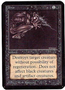 Magic the Gathering Alpha Single Terror - NEAR MINT (NM)