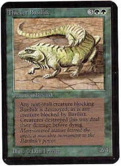 Magic the Gathering Alpha Single Thicket Basilisk UNPLAYED (NM/MT)