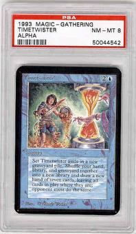 Magic the Gathering Alpha Single Timetwister PSA 8