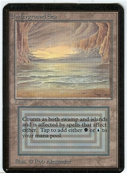 Magic the Gathering Alpha Single Underground Sea UNPLAYED (NM/MT)
