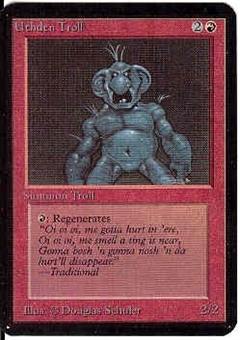 Magic the Gathering Alpha Single Uthden Troll - NEAR MINT (NM)