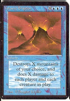 Magic the Gathering Alpha Single Volcanic Eruption UNPLAYED (NM/MT)