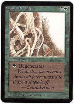 Magic the Gathering Alpha Single Wall of Brambles - SLIGHT PLAY (SP)