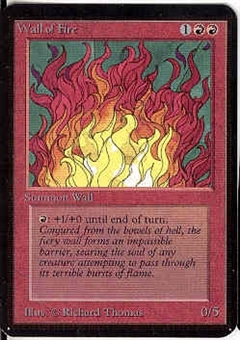 Magic the Gathering Alpha Single Wall of Fire - NEAR MINT (NM)