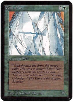 Magic the Gathering Alpha Single Wall of Ice LIGHT PLAY (NM)