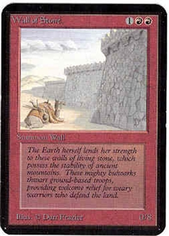 Magic the Gathering Alpha Single Wall of Stone - NEAR MINT (NM)
