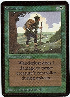Magic the Gathering Alpha Single Wanderlust UNPLAYED (NM/MT)
