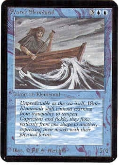 Magic the Gathering Alpha Single Water Elemental - NEAR MINT (NM)