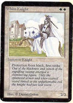 Magic the Gathering Alpha Single White Knight - MODERATE PLAY (MP)