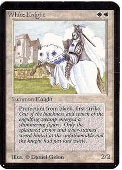Magic the Gathering Alpha Single White Knight - NEAR MINT (NM)