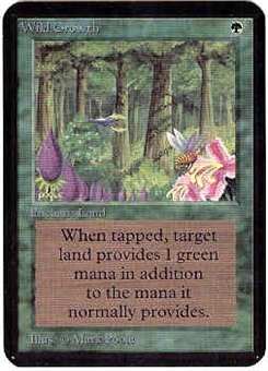 Magic the Gathering Alpha Single Wild Growth UNPLAYED (NM/MT)