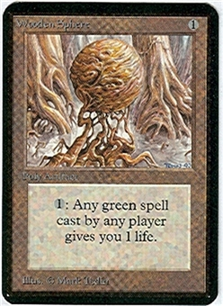 Magic the Gathering Alpha Single Wooden Sphere - SLIGHT PLAY (SP)