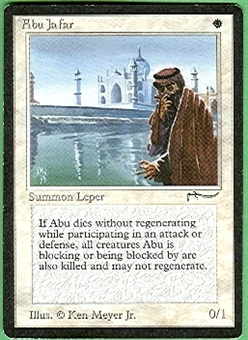 Magic the Gathering Arabian Nights Single Abu Ja'far LIGHT PLAY (NM)