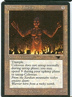 Magic the Gathering Antiquities Single Colossus of Sardia - HEAVY PLAY (HP)