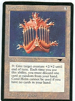 Magic the Gathering Antiquities Single Coral Helm - NEAR MINT (NM)