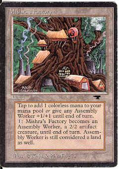 Magic the Gathering Antiquities Single Mishra's Factory (summer) - MODERATE PLAY (MP)