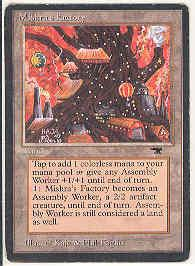 Magic the Gathering Antiquities Single Mishra's Factory (fall) LIGHT PLAY (NM)