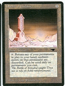 Magic the Gathering Antiquities Single Obelisk of Undoing - NEAR MINT (NM)