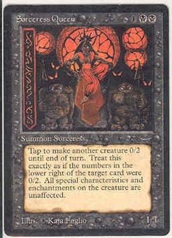 Magic the Gathering Arabian Nights Single Sorceress Queen LIGHT PLAY (NM)