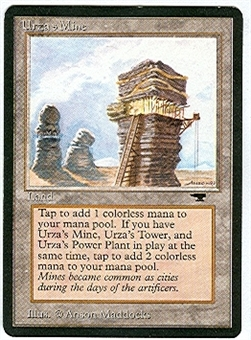 Magic the Gathering Antiquities Single Urza's Mine (tower) - SLIGHT PLAY (SP)